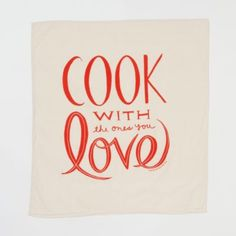 Terrain Cook with Love Tea Towel #shopterrain