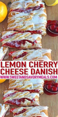 Lemon Cherry Cheese Danish Recipe [VIDEO] – Sweet and Savory Meals Lemon Cherry Cheese Danish Recipe is very easy to make with crescent dough, ready in 30 minutes, with a delicious lemon and cherry flavors! Cherry Cheese Danish Recipe, Cherry Danish Recipe Crescent Rolls, Best Danish Recipe, Fruit Danish Recipe, Strawberry Danish Recipe, Lemon Danish Recipe, Danish Dough Recipe, Homemade Danish Recipe, Danish Recipes