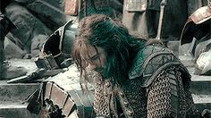 """rivendelles: """"Middle-Earth Meme - Dwarves - Kili """"I will not hide behind a wall of stone, while others fight our battles for us! it is not in my blood, Thorin. Rr Tolkien, Tolkien Books, O Hobbit, Hobbit Funny, Kili And Tauriel, Misty Eyes, Im Only Human, Concerning Hobbits, Jackson"""