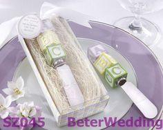 Nuevo bebé en el bloque de bloque de alfabeto inoxidable- acero esparcidor BETER-SZ045     http://es.aliexpress.com/item/BeterWedding-TH014-Palm-Tree-Favor-Box-138pcs-used-as-Wedding-gift-and-wedding-favor-wedding-decoration/611424775.html #regalos #regalo #favores #artesanía