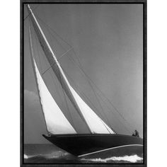 Global Gallery 'Ibis Yacht Cruising, 1936' by Edwin Levick Framed Photographic Print Size: