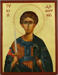 St Demetrius the Great Martyr Hand-Painted Orthodox Icon