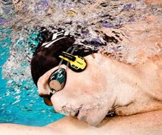 Underwater Headphones - Keep yourself motivated while you train to become the next Michael Phelps with the underwater headphones. The earpieces clip on to your goggles rubber straps and wont come loose as you swim back and forth  so you can go all out during your underwater workout.