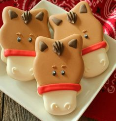 2014 Halloween Horse Face Royal Icing Cookies for Kids - Delicious Animal Sugar Cookie Dessert  #2014 #Halloween
