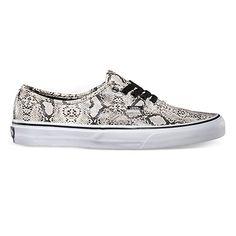 New Vans Snake Print Sneakers.