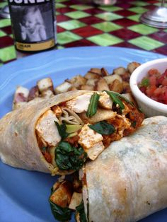 Vegan Tofu & Soyrizo Burrito at The Coffee Table in Los Angeles, CA Happy World Vegan Day! The world really is going Vegan! Follow this link to see more pictures of vegan food from around the world!