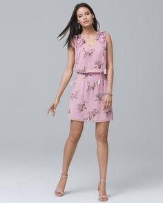 3b8aa8539e9 Women s Petite Sleeveless Floral-Print Blouson Dress by White House Black  Market