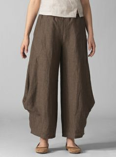 PLUS Clothing - Linen Flared Leg Pants