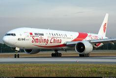 Photo of - Boeing - Air China Boeing Aircraft, Boeing 777, Air China, Commercial Aircraft, Civil Aviation, Paragliding, Photo Online, Taiwan, Sailing Ships