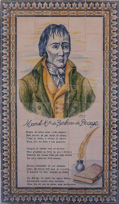 BOCAGE - Painel de Azulejos de A. Carvalho, em Setúbal.