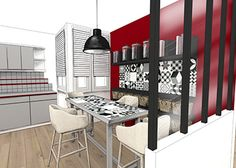 Emmanuelle Rivassoux home staging dessin de cuisine - Limpact