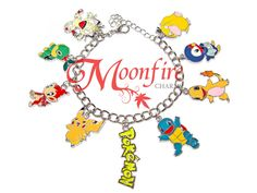 This bracelet is a tribute to the Pokemon fandom! Great for any Pokemon fan! The enamel and silver-plated bracelet measures 7 inches.