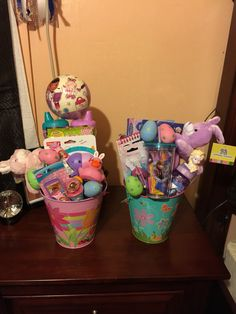 Disney's Frozen and Doc Mcstuffins inspired Easter baskets