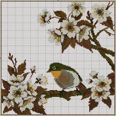 #BIRD in Cross Stitch ENCANTOS EM PONTO CRUZ: Flores