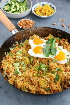 Veggie Recipes, Asian Recipes, Vegetarian Recipes, Healthy Recipes, Indonesian Fried Rice Recipe, Indonesian Food, Nasu, Happy Foods, Soul Food