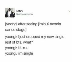 Lol.no! yoongi jimin's going to come back to you don't do this