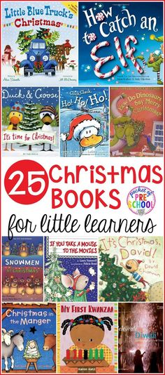 Books for Little Learners HUGE Christmas book list for little learners in your preschool, pre-k, and kindergarten classrooms or home.HUGE Christmas book list for little learners in your preschool, pre-k, and kindergarten classrooms or home. Christmas Books For Kids, Preschool Christmas, Christmas Themes, Christmas Fun, Xmas, Christmas Traditions, Preschool Books, Book Activities, Preschool Activities