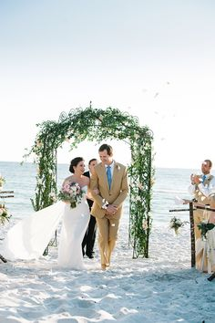 Brides: A Beach-Chic Wedding in the Sand in Seaside, Florida