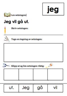 Skriveopplæring | UNDERVISNING: inspirasjon, tips og idèer Danish Language, First Grade, Grammar, Literacy, Homeschool, Classroom, Teacher, Writing, Education