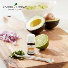 A quick, tasty guacamole recipe using essential oil!
