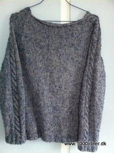 top-down sweater med snoninger - free pattern