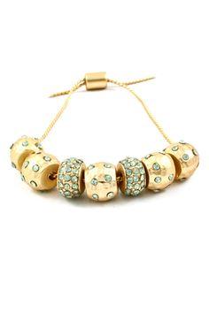 Crystal Mint Polka Dotted Charm Bracelet | Emma Stine Jewelry Bracelets