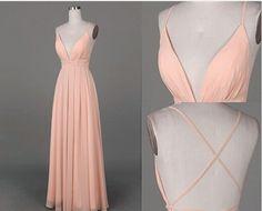 Bg157 Deep V Neck Prom Dress,Sexy Prom Dress,Charming Prom Dress,Chiffon Prom…