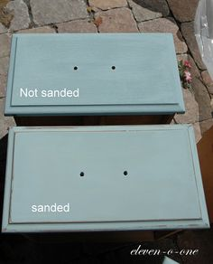DIY Chalk Paint with baking soda added to regular paint. Need to use this for signs but get the real stuff for furniture!