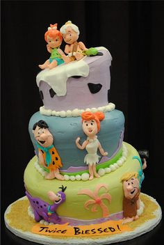 flintstones cake | Flickr - Photo Sharing!