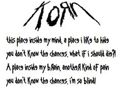 Korn - Blind lyrics