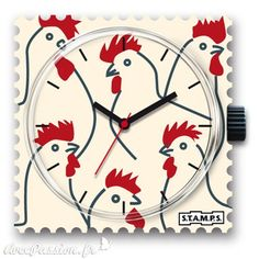 Soutenez la France lors pour les JO avec ce cadran de montre Stamps =) Cocorico ! https://www.avecpassion.fr/50-montres-stamps-montre-fantaisie