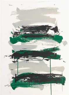 Joan Mitchell, Champs (Black, Gray and Green)