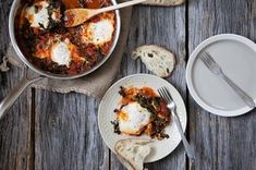 Eggs in a Wintry Tomato and Kale Sauce Recipe on Food52 recipe on Food52