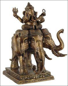 Lord Ganesha on Elephant