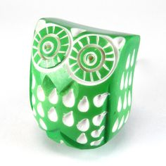 Items similar to Set/6 Green Owl Cabinet Knobs, Drawer Pulls, Handle - Plastic Owl Knobs for Children's Decor, Baby's Nursery, bathroom with Chrome Hardware. on Etsy