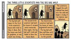 Los tres científicos y el lobo