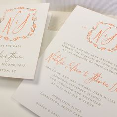 Fresh Ink: Wedding Invitation and Save the Date