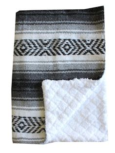 Baja Baby™ Mexican Baby Blanket -Classic Grey - Del Mex - 1
