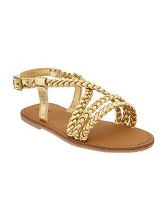 Metallic braided sandal | Gap