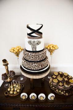 African Cake Wedding Cake