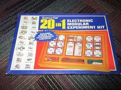VINTAGE RADIO SHACK SCIENCE FAIR 20 IN 1 ELECTRONIC MODULAR EXPERIMENT KIT 28-24 #SCIENCEFAIR