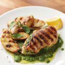 Try the Grilled Chicken with Arugula Pesto Recipe on williams-sonoma.com/