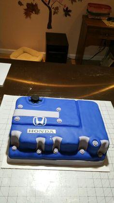 Honda Car Key Birthday Cake My Cakes Pinterest Honda Cars - Car engine birthday cake