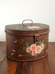 vintage Tin Hat Box via freepeople.com