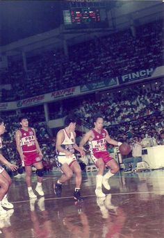 ... Alvin Patrimonio (Purefoods) during the action of the 1992 PBA All-Star  Game at The ULTRA (now PhilSports Arena) in Pasig 943a213f0