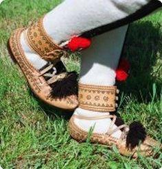 Krpce (folk leather shoes) - Slovakia