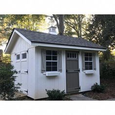 W x 12 ft. D Solid Wood Storage Shed Outdoor Living Today Santa Rosa 8 ft. W x 12 ft. D Wooden Storage Shed Backyard Studio, Backyard Sheds, Outdoor Sheds, Backyard Storage Sheds, Pergola, Gazebo, Diy Shed Plans, Storage Shed Plans, Porch Plans
