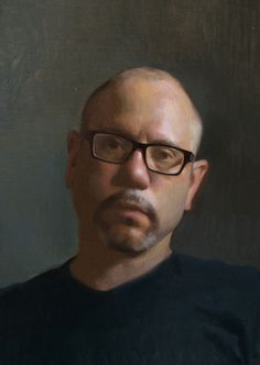 """Andrew Ameral """"Self Portrait"""" Oil on oil primed linen 11 x 15 in Florence Academy of Art http://www.florenceacademyofart.com/"""
