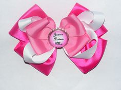 Jesus loves me bow.  Many colors available.  What a precious reminder for a little girl. - $8