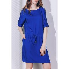 17.03$  Watch here - http://diu7b.justgood.pw/go.php?t=172497901 - Chic Short Sleeve Round Neck Lace Design Women's Dress